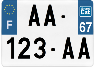 Plaque 4×4 – 275×200 – 67 – Bas-rhin