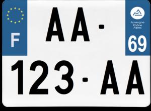 Plaque 4×4 – 275×200 – 69 – Rhône