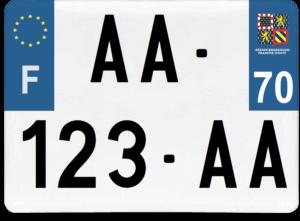 Plaque 4×4 – 275×200 – 70 – Haute-Saône