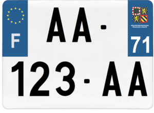 Plaque 4×4 – 275×200 – 71 – Saône-et-loire