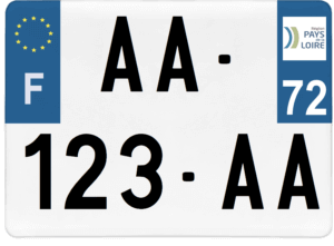 Plaque 4×4 – 275×200 – 72 – Sarthe