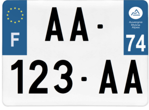 Plaque 4×4 – 275×200 – 74 – Haute-Savoie