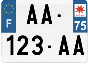 Plaque 4×4 – 275×200 – 75 – Paris