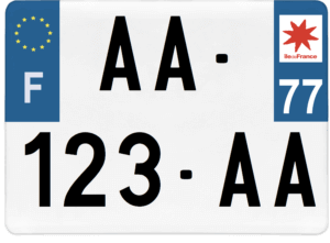 Plaque 4×4 – 275×200 – 77 – Seine-et-Marne