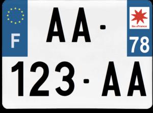Plaque 4×4 – 275×200 – 78 – Yvelines