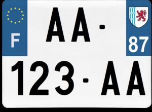 Plaque 4×4 – 275×200 – 87 – Haute-Vienne