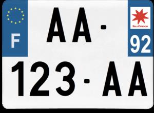 Plaque 4×4 – 275×200 – 92 – Hauts-de-Seine