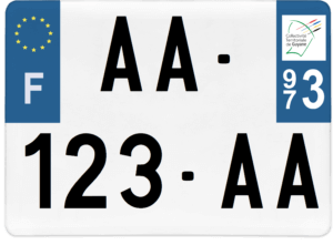 Plaque 4×4 – 275×200 – 973 – Guyane