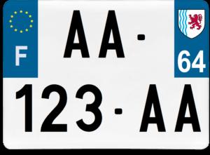 Plaque 4×4 – 275×200 – 64 – Pyrénées-atlantiques