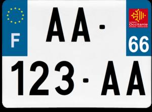 Plaque 4×4 – 275×200 – 66 – Pyrénées-Orientales