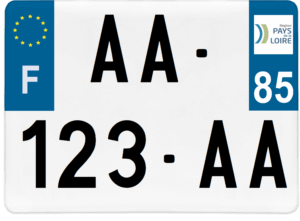 Plaque 4×4 – 275×200 – 85 – Vendée