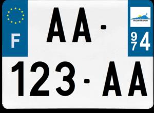 Plaque 4×4 – 275×200 – 974 – La Réunion
