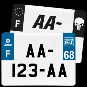 Plaque 4×4 – 275×200 – 68 – Haut-Rhin