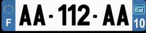 Plaque AUTO – 520×110 – 10 – Aube