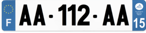 Plaque AUTO – 520×110 – 15 – Cantal