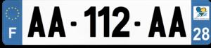 Plaque AUTO – 520×110 – 28 – Eure-et-loir