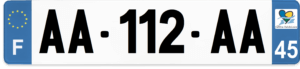 Plaque AUTO – 520×110 – 45 – Loiret