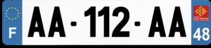 Plaque AUTO – 520×110 – 48 – Lozère