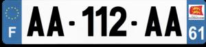 Plaque AUTO – 520×110 – 61 – Orne