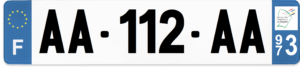 Plaque AUTO – 520×110 – 973 – Guyane