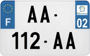 Plaque MOTO – 210×130 – 02 – Aisne