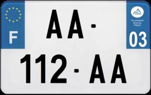 Plaque MOTO – 210×130 – 03 – Allier