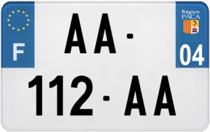 Plaque MOTO – 210×130 – 04 – Alpes-de-Haute-Provence