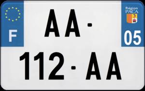 Plaque MOTO – 210×130 – 05 – Hautes-Alpes