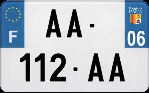 Plaque MOTO – 210×130 – 06 – Alpes-Maritimes
