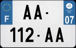 Plaque MOTO – 210×130 – 07 – Ardèche
