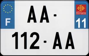 Plaque MOTO – 210×130 – 11 – Aude