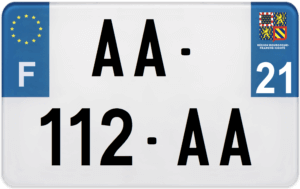 Plaque MOTO – 210×130 – 21 – Côte-d'Or