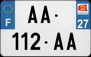 Plaque MOTO – 210×130 – 27 – Eure