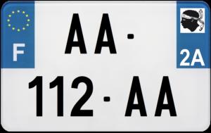Plaque MOTO – 210×130 – 2a – Corse-du-Sud