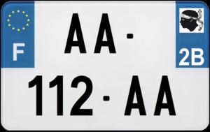 Plaque MOTO – 210×130 – 2b – Haute-Corse