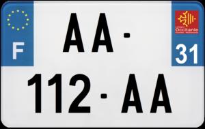 Plaque MOTO – 210×130 – 31 – Haute-Garonne