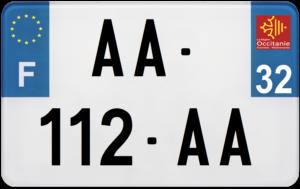 Plaque MOTO – 210×130 – 32 – Gers