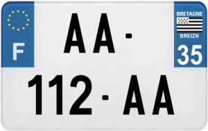 Plaque MOTO – 210×130 – 35 – Ile-et-vilaine