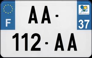 Plaque MOTO – 210×130 – 37 – Indre-et-Loire