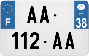 Plaque MOTO – 210×130 – 38 – Isère