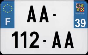 Plaque MOTO – 210×130 – 39 – Jura
