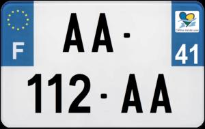 Plaque MOTO – 210×130 – 41 – Loir-et-cher