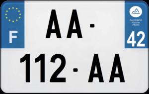 Plaque MOTO – 210×130 – 42 – Loire