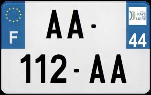 Plaque MOTO – 210×130 – 44 – Loire-Atlantique