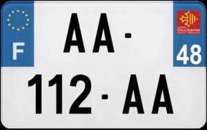 Plaque MOTO – 210×130 – 48 – Lozère
