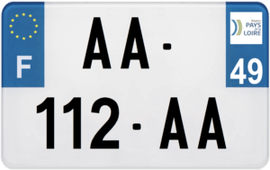 Plaque MOTO – 210×130 – 49 – Maine-et-loire