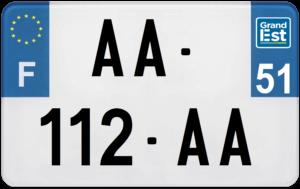 Plaque MOTO – 210×130 – 51 – Marne