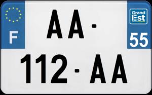 Plaque MOTO – 210×130 – 55 – Meuse