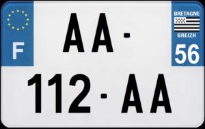 Plaque MOTO – 210×130 – 56 – Morbihan