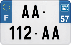 Plaque MOTO – 210×130 – 57 – Moselle